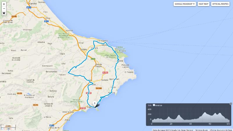Solybike Racing bike route
